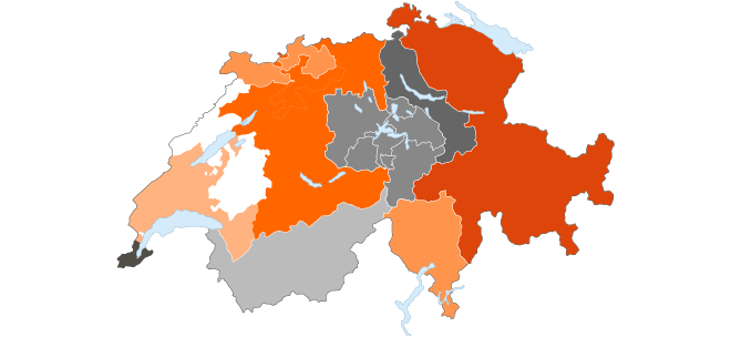 Carte des coopératives Migros