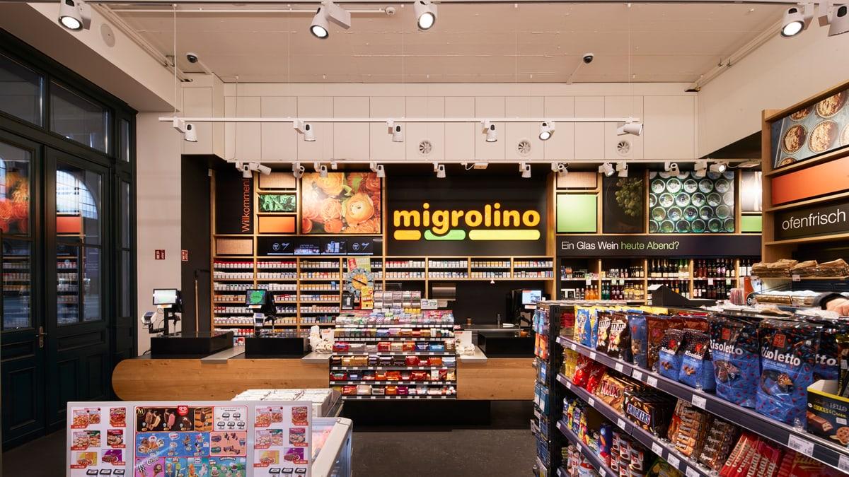 migrolino Shop im Hauptbahnhof Zürich