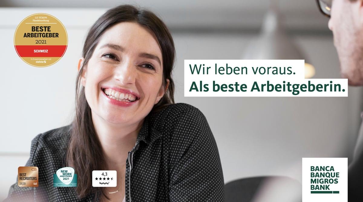 Migros Bank –Wir leben voraus. Als beste Arbeitgeberin.